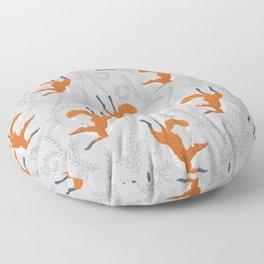 Fox in the Snow Floor Pillow