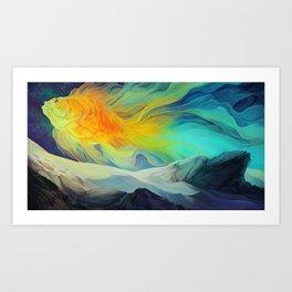 The Fantail Aurora Art Print