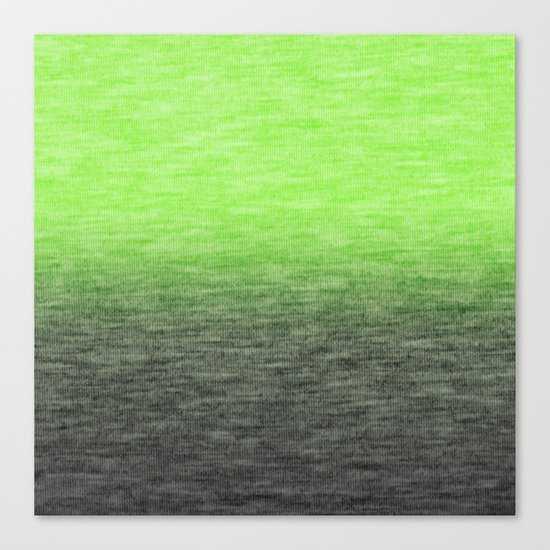 Ombre Lime Canvas Print