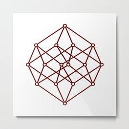 brown line . prism art Metal Print