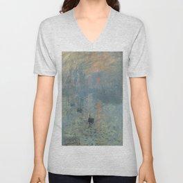 Claude Monet's Impression, Soleil Levant Unisex V-Neck
