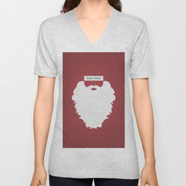 Santa Claus (Famous mustaches and beards) Unisex V-Neck