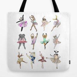 Animal Square Dance Tote Bag