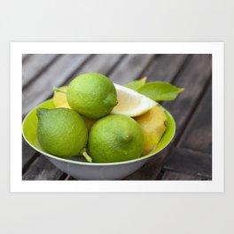 Lemon Fresh Art Print