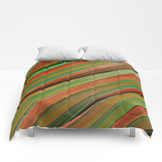 Colored stripes background no. 2 Comforters