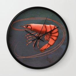Shrimpy Shrimp Wall Clock