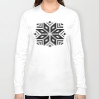knit Long Sleeve T-shirts featuring knit flake by Miranda J. Friedman