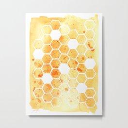 Golden Honeycomb Metal Print