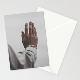 Yoga pose, peace sign, meditation, relaxation, human hand, day, tranquility, nature Stationery Cards