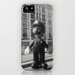 Luigi in the city iPhone Case