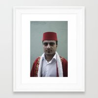 fez Framed Art Prints featuring Red Fez by anthonjackson