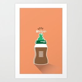 In My Fridge - Chocolate Milk Art Print
