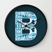 ben giles Wall Clocks featuring Ben by jonathanMORFFI