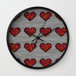 warm hearts Wall Clock