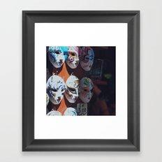 Venetian masks Framed Art Print