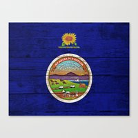kansas Canvas Prints featuring Kansas by C Liza B