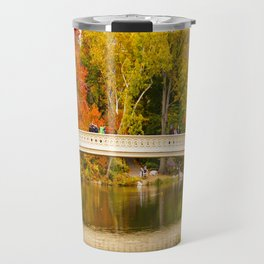 Bow Bridge at Central Park Travel Mug