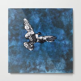 Hope is the thing with feathers on Metal Print