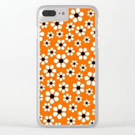 Dizzy Daisies - Orange Clear iPhone Case