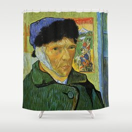 Self Portrait with Bandaged Ear by Vincent van Gogh Shower Curtain