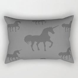 Unicorns Gray Shades Rectangular Pillow