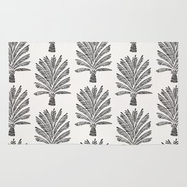 Palm Tree – Black Rug