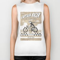 cafe racer Biker Tanks featuring CAPTIAN RACER by Morselli Mattia