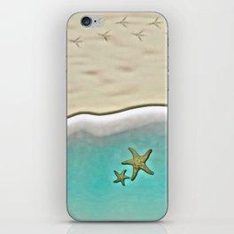 SANDY BEACH & STARFISH iPhone Skin