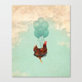 Chickens can't fly 02 Canvas Print