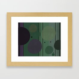 """The Girl and the Moon (Pattern 02)"" Framed Art Print"