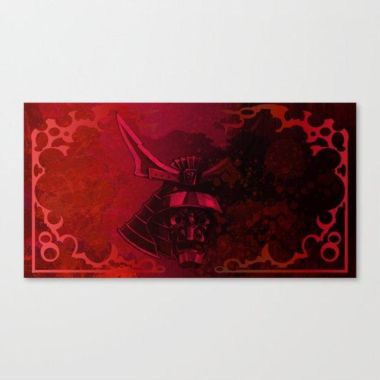 Kabuto with Mempo Canvas Print