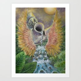 Pouring Out Blessings Art Print