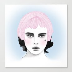 Fashion Illustration - Chanel Pink Canvas Print