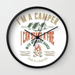 I'm a Camper Wall Clock