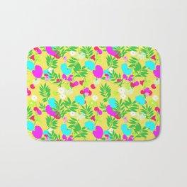 Vintage Mod Forest Floral in Lemon Bath Mat