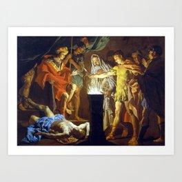Matthias Stomer Mucius Scaevola in the presence of Lars Porsenna Art Print