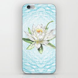 Waterlily Colored pencil iPhone Skin
