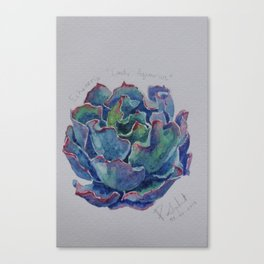 Succulent watercolor1 Canvas Print
