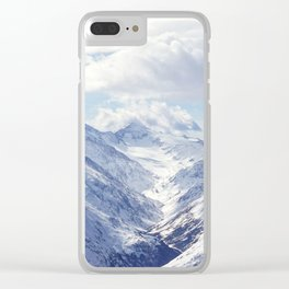Snowy Mountains Clear iPhone Case