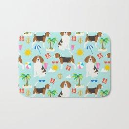 Beagles beagle pattern beach classic socal dog breed pattern palm trees tropical Bath Mat