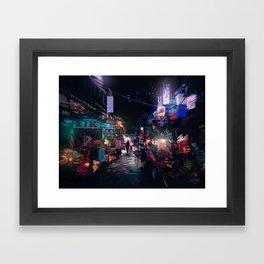 Blues of the Night Framed Art Print