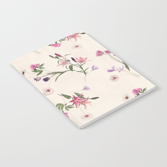 Scattered Floral on Cream Notebook