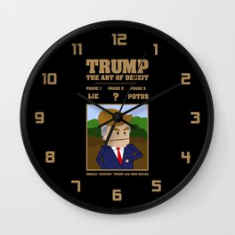 Trump - The Art of Deceit Wall Clock