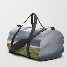 High Risk - Wide Angle View of Tornado in Kansas Duffle Bag