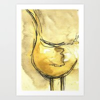 ostrich Art Prints featuring ostrich by nihal ekinci