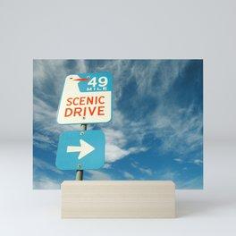 49 mile scenic drive Mini Art Print