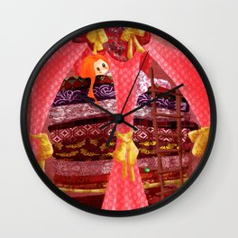 The princess and the pea Wall Clock
