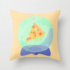 The Future is Pizza Throw Pillow