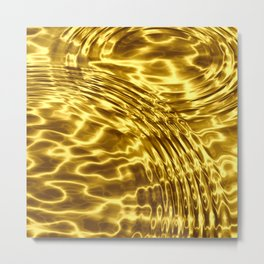 Gold Drops - Sumptuous Metal Print