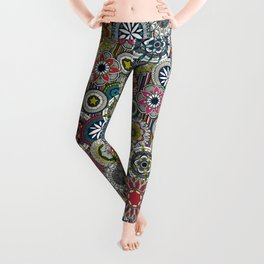 mandala cirque festival stripe Leggings